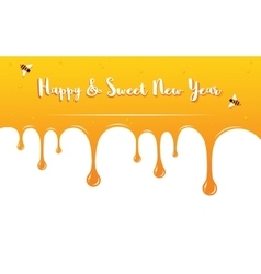 Honey drips with Shana Tova Greetings Rosh vector