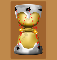 hourglass drum vector image
