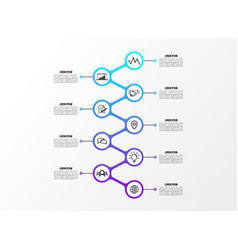 infographic design template with options steps vector image