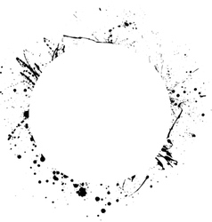Ink blots circle vector image