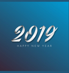 inscription happy new year 2019 on blue background vector image