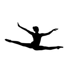 Jump split female gymnast vector