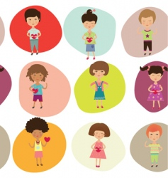 kids background vector image