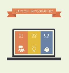 Laptop info vector