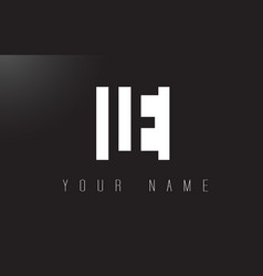 Le letter logo with black and white negative vector