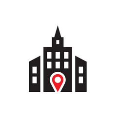 location - web icon on white background vector image
