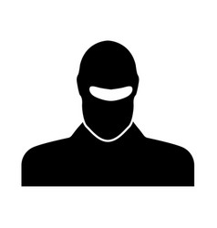 Man in balaclava or pasamontanas vector