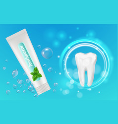 mint toothpaste background dental poster vector image