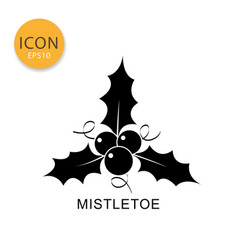 Mistletoe icon isolated flat style vector