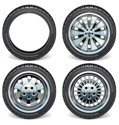 modern car wheels side view vector image