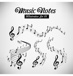 Musical staves vector image