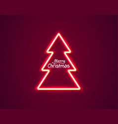 neon merry christmas and happy new year vector image