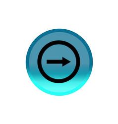Next arrow button icon blue round button editable vector