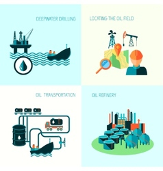 Oil industry composition vector
