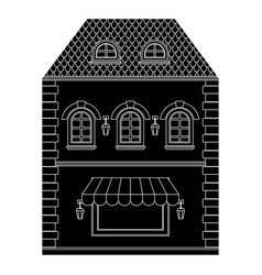 old european house with store on ground floor vector image