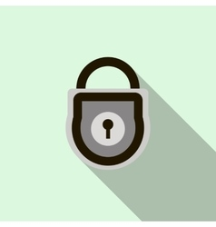 Padlock icon flat style vector image