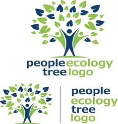People ecology tree logo 7 vector