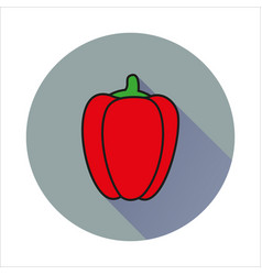 pepper simple icon on white background vector image