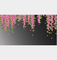 Pink hanging flowers vector