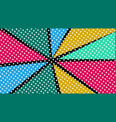 Pop art colorful rays background vector