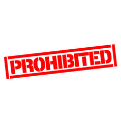 Prohibited typographic stamp vector