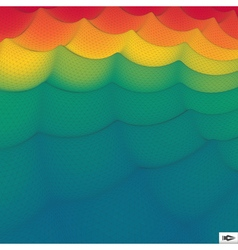Rainbow Wallpaper Abstract Wavy Grid Background vector