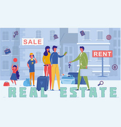 real estate agency services word concept banner vector image