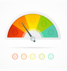 realistic detailed 3d rating feedback meter vector image