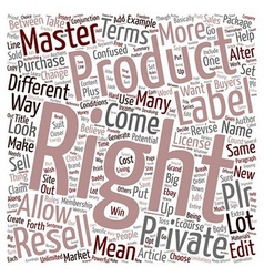 Resell Rights Master Rights Private Label Rights vector