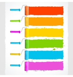 Roller brushes with rainbow colors vector