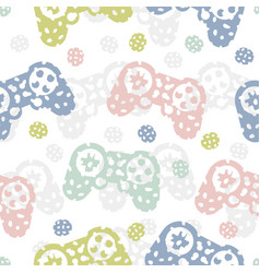 seamless pattern with game controller abstract vector image