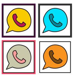 Set of button icon backgroundwhatsapp logo design vector