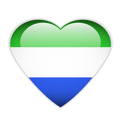 Sierra Leone flag button vector image