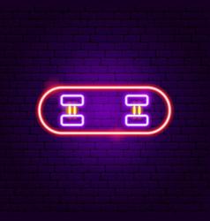 skateboard neon sign vector image