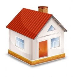small village house isolated vector image vector image