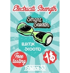 Smart scooter banner vector image