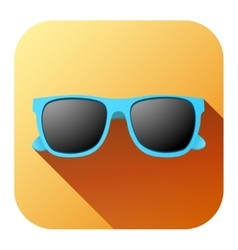 Square Summer Icon with sunglasses vector image