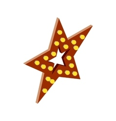 Star with lights icon isometric 3d style vector image