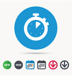 Stopwatch icon timer or clock device sign vector