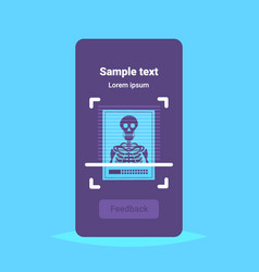 technological machine scanning x-ray photograph vector image