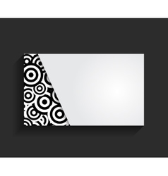 Template for Business Card vector