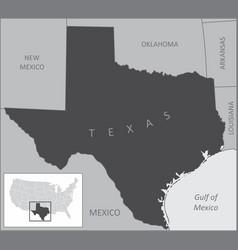 Texas region map vector