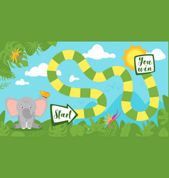 tropic jungle board game vector image