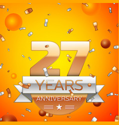twenty seven years anniversary celebration design vector image