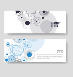 two modern banner abstract modern technology vector image