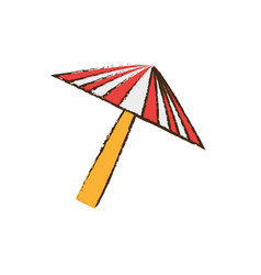Umbrella equipment picnic travel vector