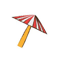 umbrella equipment picnic travel vector image
