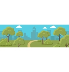 Urban Cityscape with Park vector image
