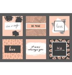 Valentine cards set vector image
