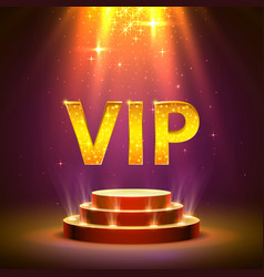 vip podium with lighting stage podium scene with vector image